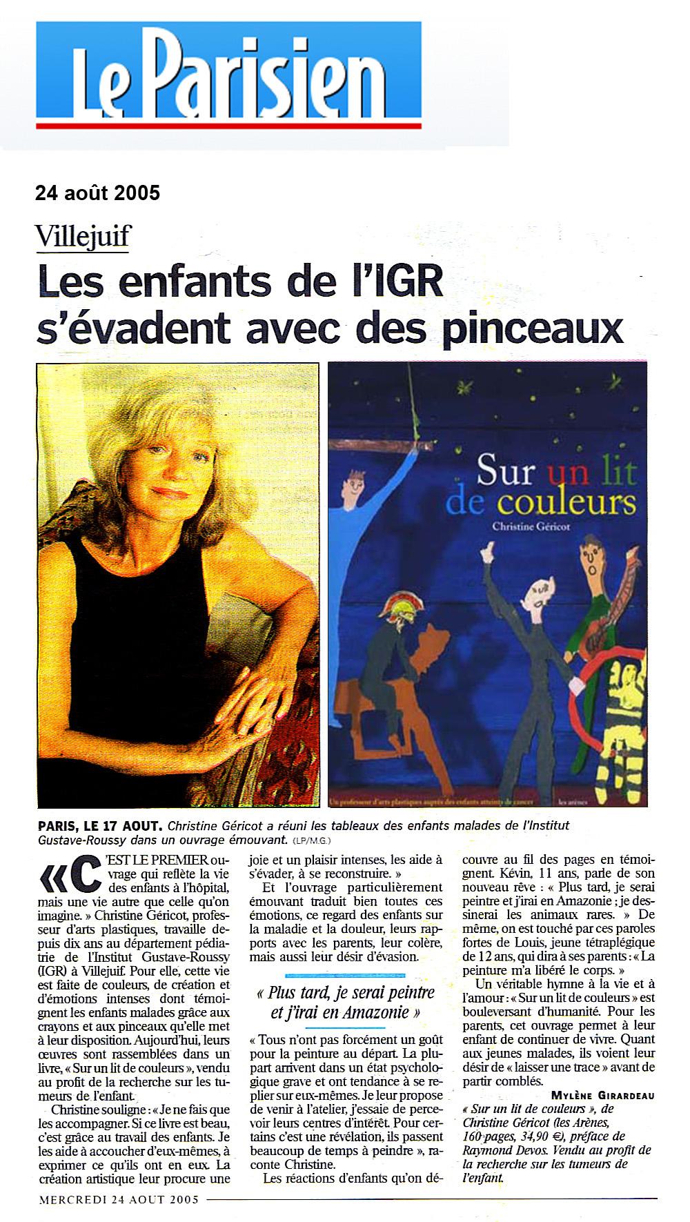 Le Parisien 21/08/2005